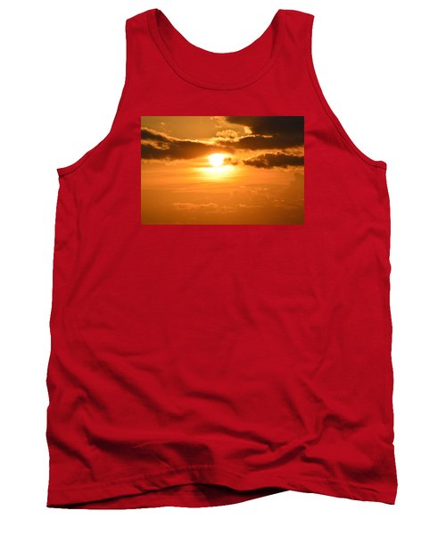 Tank Top featuring the photograph Sunset In The Clouds  by Lyle Crump