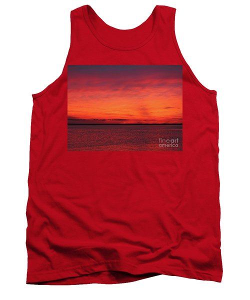 Sunset On Jersey Shore Tank Top
