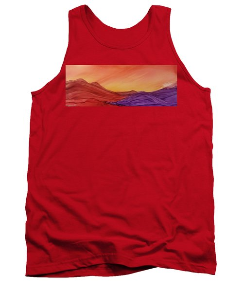 Sunset On Red And Purple Hills Tank Top
