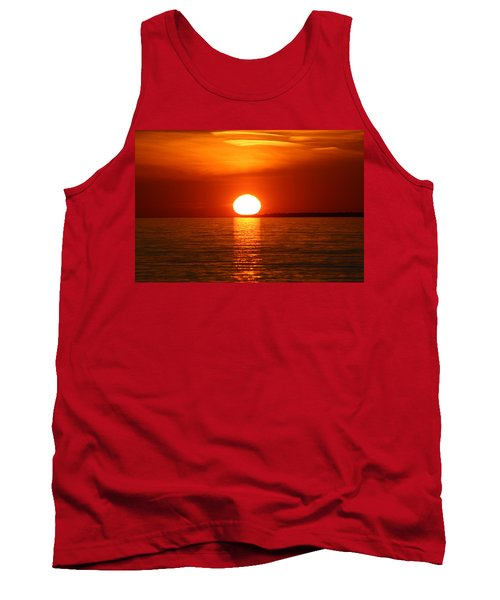 Sunset On Superior Tank Top by Paula Brown
