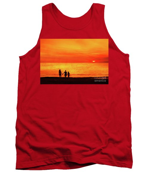 Sunset On The Beach Tank Top by Randy Steele