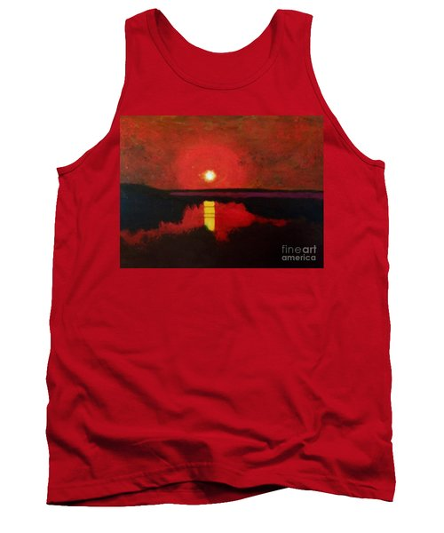 Sunset On The Lake Tank Top by Donald J Ryker III