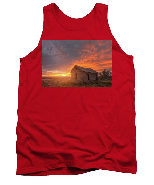 Tank Top featuring the photograph Sunset On The Prairie  by Darren White