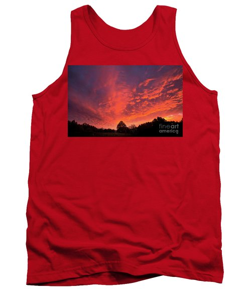 Sunset Over A Maine Farm Tank Top by Alana Ranney
