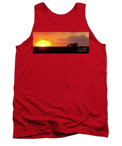 Sunset Over Easy Tank Top by Sue Stefanowicz