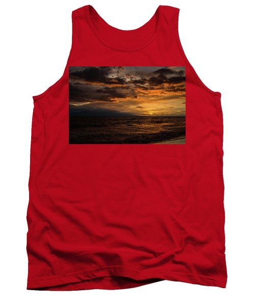 Tank Top featuring the photograph Sunset Over Hawaii by Chris McKenna