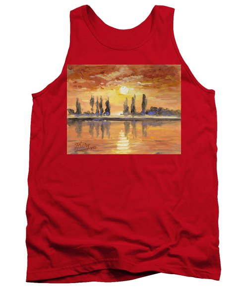 Sunset Over The Lake Tank Top by Irek Szelag