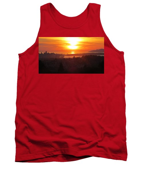 Sunset Over Vancouver Tank Top