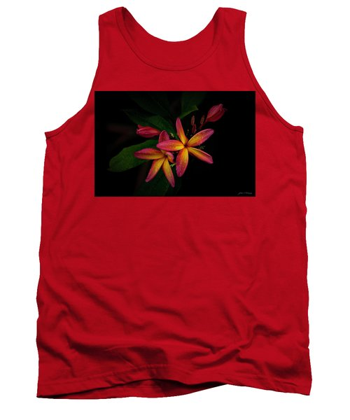 Sunset Plumerias In Bloom #2 Tank Top