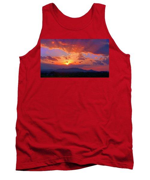 Sunset Rays At Smith Mountain Lake Tank Top