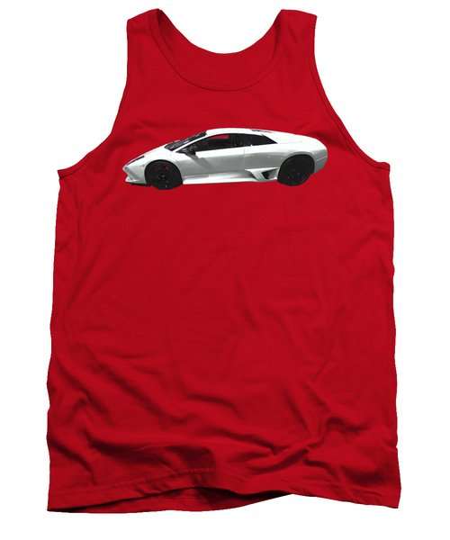 Supercar In White Art Tank Top