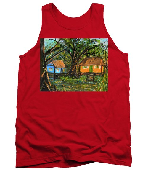 Swamp Cabins Tank Top by Christy Usilton