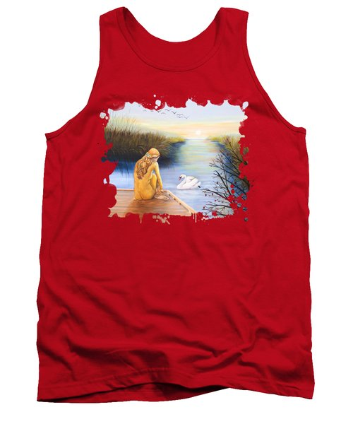 Swan Bride T-shirt Tank Top by Dorothy Riley