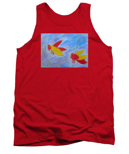 Tank Top featuring the painting Swarming Bees by Artists With Autism Inc