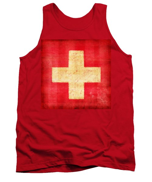 Switzerland Flag Tank Top by Setsiri Silapasuwanchai