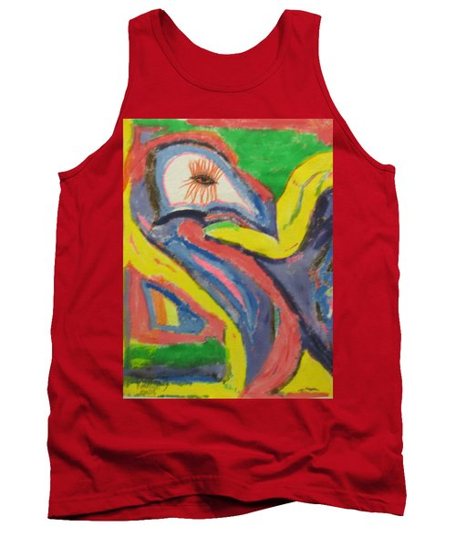 Tank Top featuring the painting Artwork On T-shirt 0011 by Mudiama Kammoh