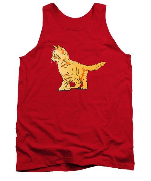 Tabby Kitten Tank Top