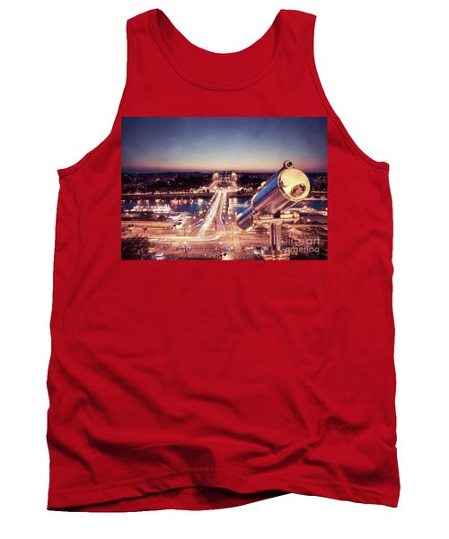 Tank Top featuring the photograph Take A Look At Paris by Hannes Cmarits