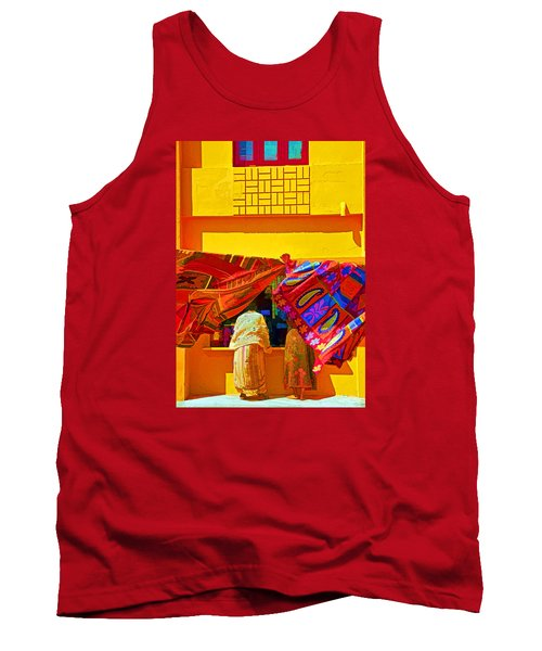 Tank Top featuring the photograph Tamil Nadu Shop by Dennis Cox WorldViews