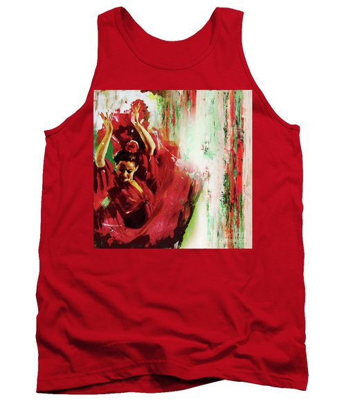 Tank Top featuring the painting Tango Dance 45g by Gull G