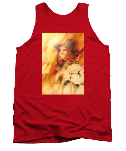 Tank Top featuring the painting Tangy by Denise Fulmer