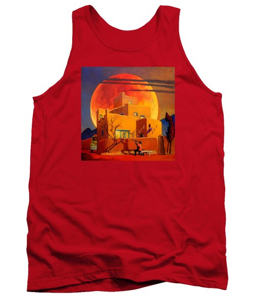 Taos Wolf Moon Tank Top