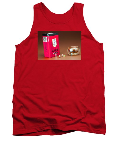Tank Top featuring the photograph Tea Drinking In A Family Little People Big World by Paul Ge