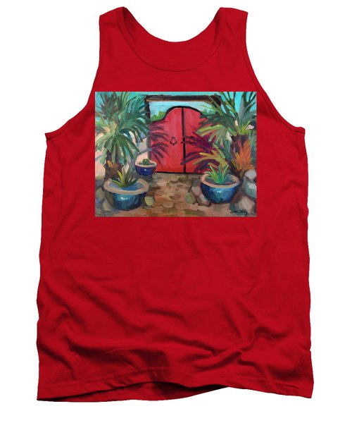 Tank Top featuring the painting Tecate Garden Gate by Diane McClary