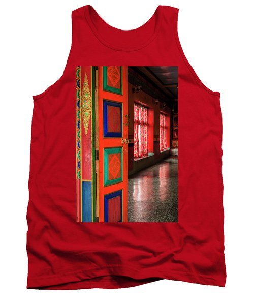 Tank Top featuring the photograph Temple Door by Alexey Stiop
