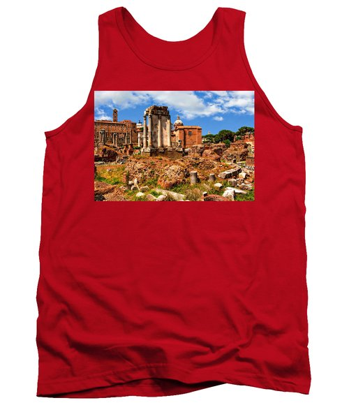 Temple Of Vesta Tank Top by Anthony Dezenzio