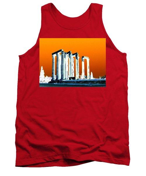 Temple Of Zeus, Athens Tank Top by Karen J Shine