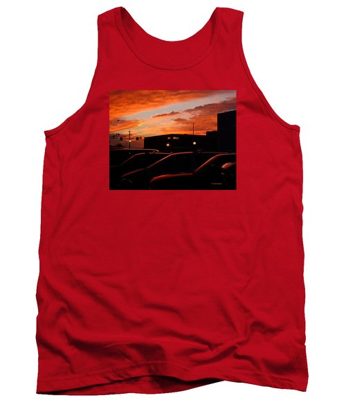 Tank Top featuring the digital art Ten Fourteen P.m. by Jana Russon