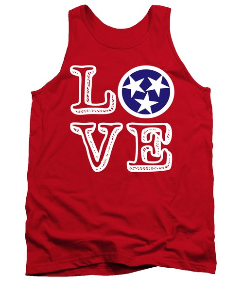 Tennessee Flag Love Tank Top