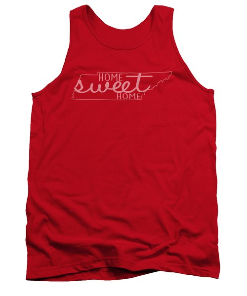 Tank Top featuring the digital art Tennessee Home Sweet Home by Heather Applegate