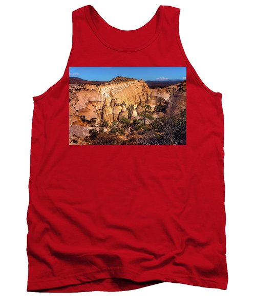 Tent Rocks From Above Tank Top