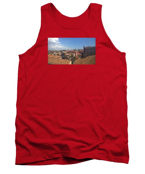 Tank Top featuring the photograph Terracotta Rooftops by Anne Kotan