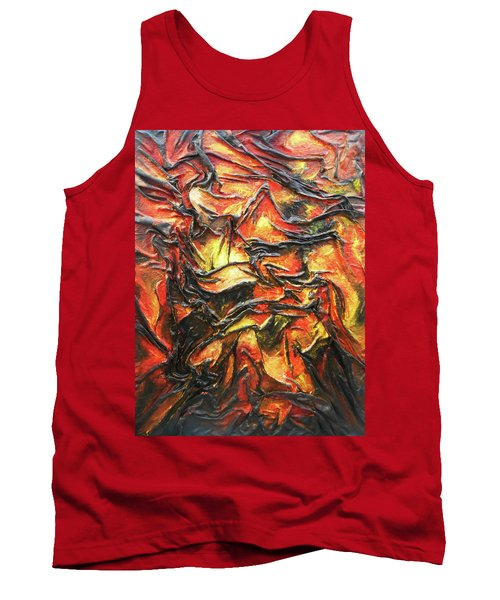 Texture Of Fire Tank Top by Angela Stout