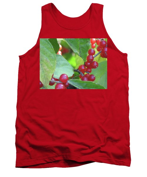 Textured Berries Tank Top by Michele Wilson