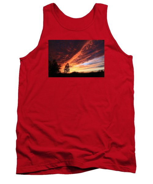 Tank Top featuring the photograph Thanksgiving Sunset by Gary Kaylor