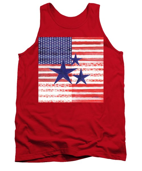 Tank Top featuring the photograph The Americana Flag by Colleen Taylor