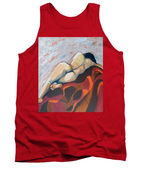 The Anguish Of Love Tank Top by Esther Newman-Cohen