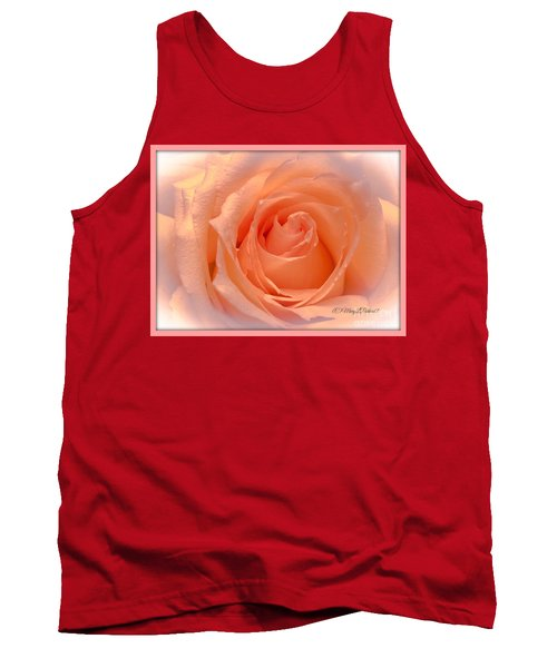 The  Beauty Of A Rose  Copyright Mary Lee Parker 17,  Tank Top by MaryLee Parker