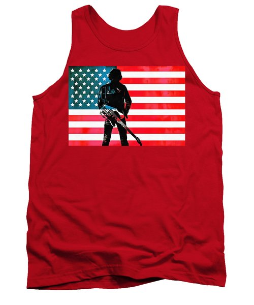 Tank Top featuring the digital art The Boss by Dan Sproul