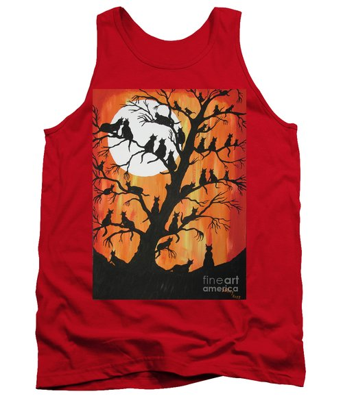 The Cats On Night Watch Tank Top