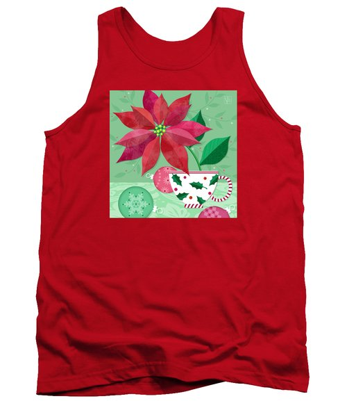 The Christmas Poinsettia Tank Top