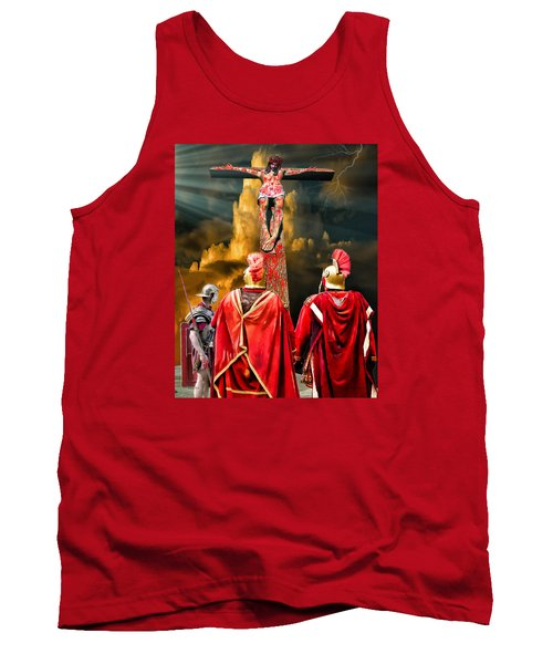 The Crucifixion Tank Top by Mark Allen