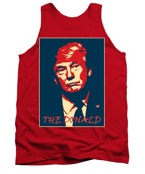 Tank Top featuring the digital art The Donald by Richard Reeve