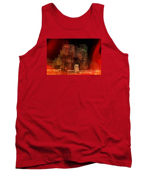 The Ghostly Ruins Of An Elizabethan Fireplace Tank Top by Linsey Williams