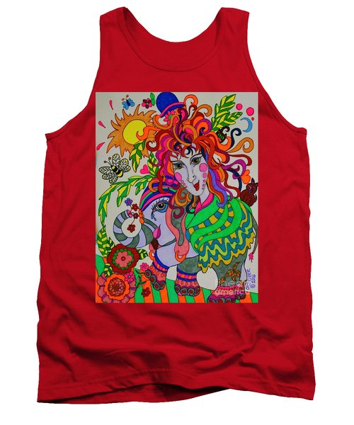 The Girl And The Elephant Tank Top