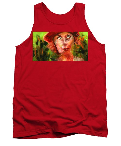 Tank Top featuring the painting The Happy Gardener by Jim Vance